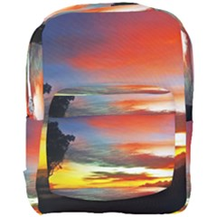 Sunset Mountain Indonesia Adventure Full Print Backpack