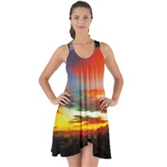 Sunset Mountain Indonesia Adventure Show Some Back Chiffon Dress