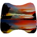 Sunset Mountain Indonesia Adventure Velour Head Support Cushion View2