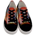 Sunset Mountain Indonesia Adventure Men s Low Top Canvas Sneakers View1