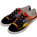 Sunset Mountain Indonesia Adventure Men s Low Top Canvas Sneakers View2