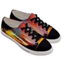 Sunset Mountain Indonesia Adventure Men s Low Top Canvas Sneakers View3