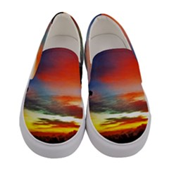 Sunset Mountain Indonesia Adventure Women s Canvas Slip Ons