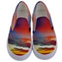 Sunset Mountain Indonesia Adventure Kids  Canvas Slip Ons View1
