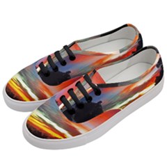 Sunset Mountain Indonesia Adventure Women s Classic Low Top Sneakers