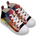 Sunset Mountain Indonesia Adventure Kid s Mid-Top Canvas Sneakers View3