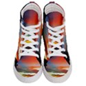 Sunset Mountain Indonesia Adventure Men s Hi-Top Skate Sneakers View1