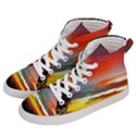 Sunset Mountain Indonesia Adventure Men s Hi-Top Skate Sneakers View2