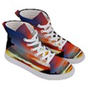 Sunset Mountain Indonesia Adventure Men s Hi-Top Skate Sneakers View3
