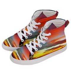 Sunset Mountain Indonesia Adventure Women s Hi-Top Skate Sneakers