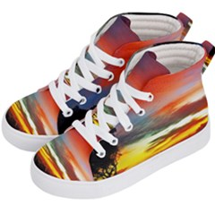 Sunset Mountain Indonesia Adventure Kid s Hi-Top Skate Sneakers