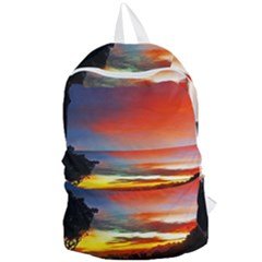 Sunset Mountain Indonesia Adventure Foldable Lightweight Backpack