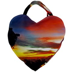 Sunset Mountain Indonesia Adventure Giant Heart Shaped Tote