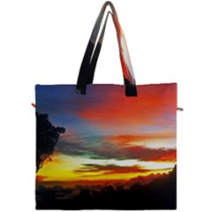 Sunset Mountain Indonesia Adventure Canvas Travel Bag by Nexatart
