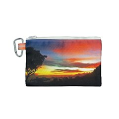 Sunset Mountain Indonesia Adventure Canvas Cosmetic Bag (small)