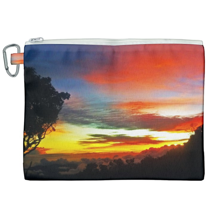 Sunset Mountain Indonesia Adventure Canvas Cosmetic Bag (XXL)