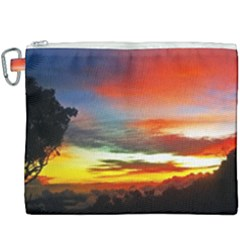 Sunset Mountain Indonesia Adventure Canvas Cosmetic Bag (XXXL)