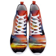 Sunset Mountain Indonesia Adventure Men s Lightweight High Top Sneakers