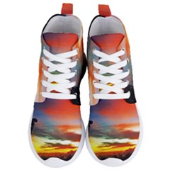 Sunset Mountain Indonesia Adventure Women s Lightweight High Top Sneakers