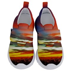 Sunset Mountain Indonesia Adventure Velcro Strap Shoes
