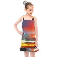 Sunset Mountain Indonesia Adventure Kids  Overall Dress