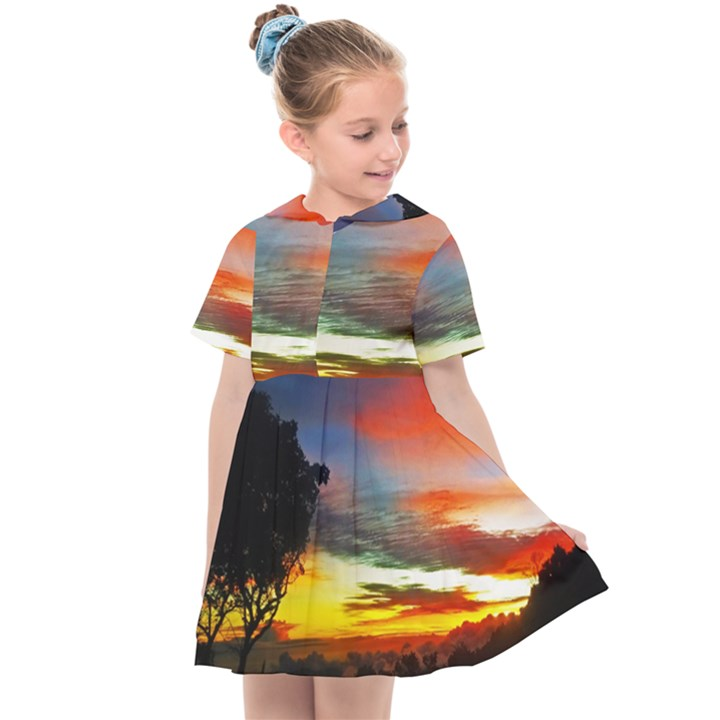 Sunset Mountain Indonesia Adventure Kids  Sailor Dress