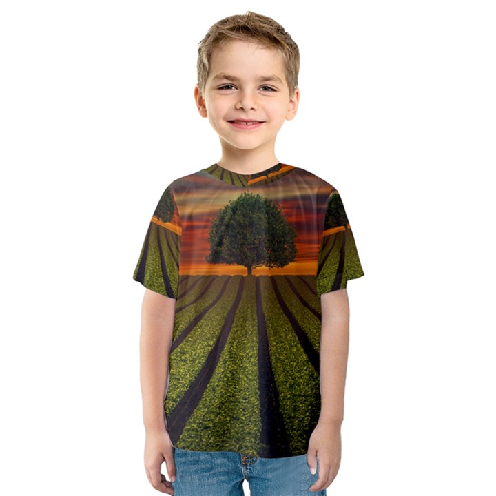 Natural Tree Kids  Sport Mesh Tee