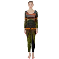 Natural Tree Long Sleeve Catsuit