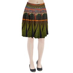 Natural Tree Pleated Skirt