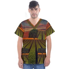 Natural Tree Men s V Neck Scrub Top