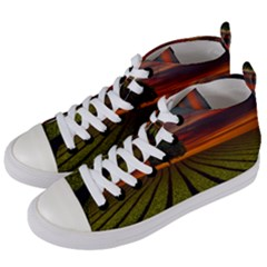 Natural Tree Women s Mid Top Canvas Sneakers by Alisyart