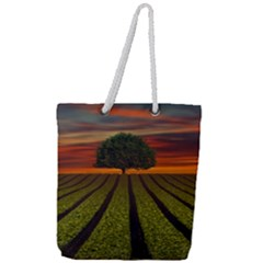 Natural Tree Full Print Rope Handle Tote (large) by Alisyart