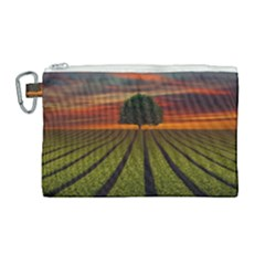 Natural Tree Canvas Cosmetic Bag (large)