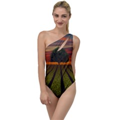 Natural Tree To One Side Swimsuit