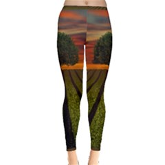 Natural Tree Inside Out Leggings