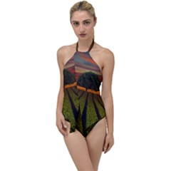 Natural Tree Go With The Flow One Piece Swimsuit