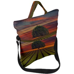 Natural Tree Fold Over Handle Tote Bag by Alisyart