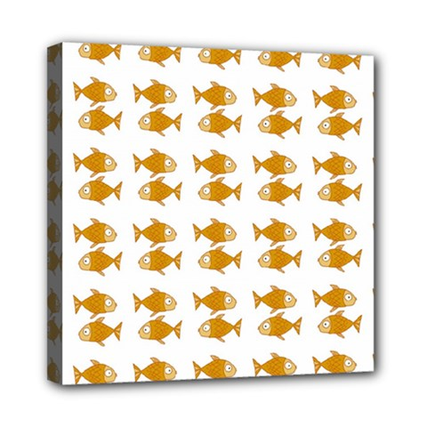 Small Fish Water Orange Mini Canvas 8  X 8  (stretched)