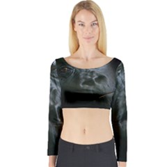 Gorilla Monkey Zoo Animal Long Sleeve Crop Top by Nexatart