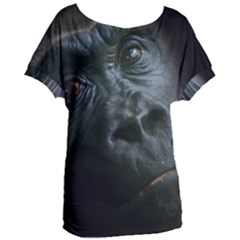 Gorilla Monkey Zoo Animal Women s Oversized Tee