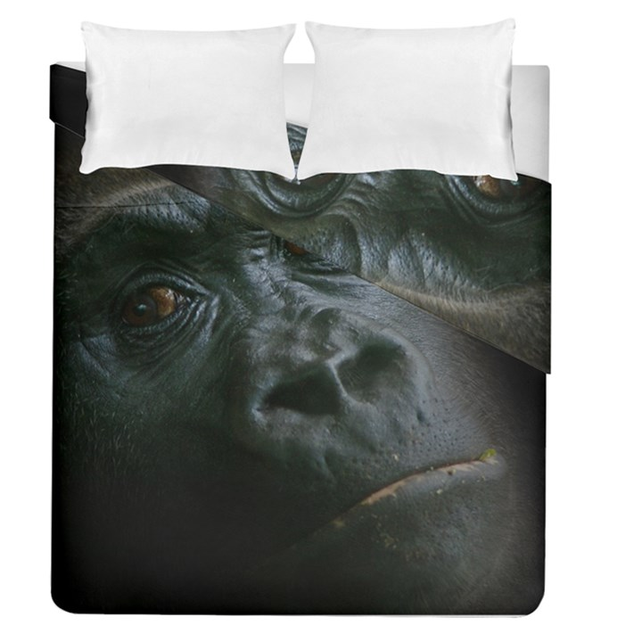 Gorilla Monkey Zoo Animal Duvet Cover Double Side (Queen Size)