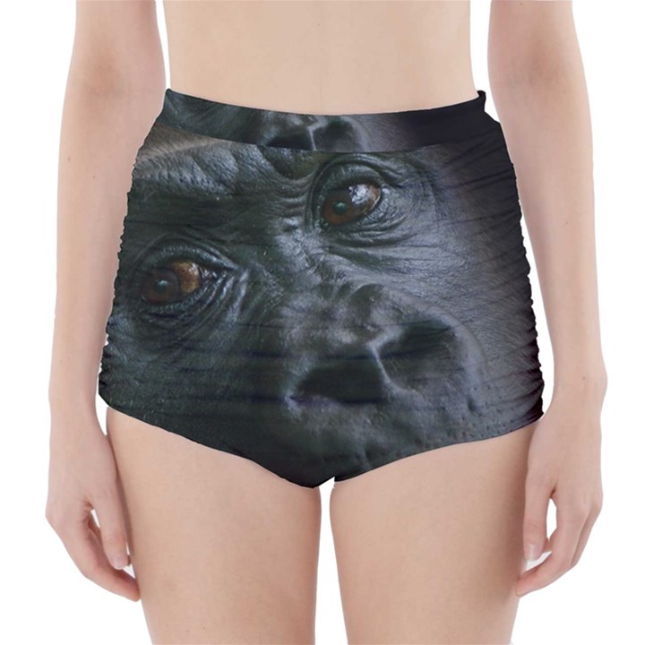 Gorilla Monkey Zoo Animal High-Waisted Bikini Bottoms