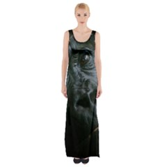 Gorilla Monkey Zoo Animal Maxi Thigh Split Dress by Nexatart