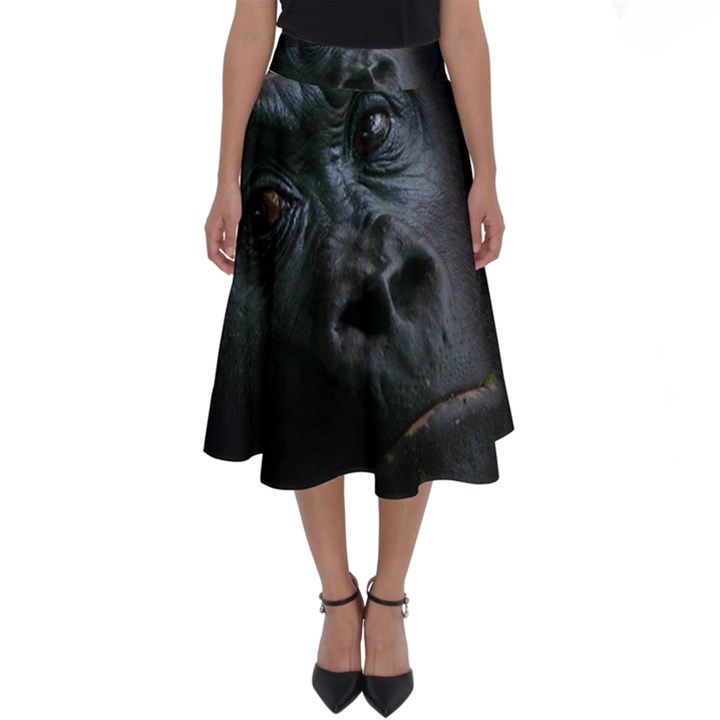Gorilla Monkey Zoo Animal Perfect Length Midi Skirt