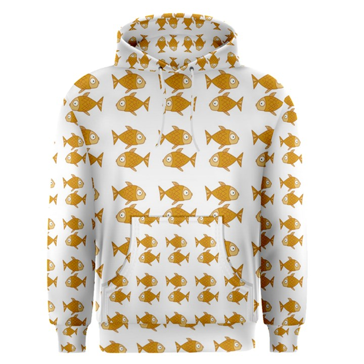 Small Fish Water Orange Men s Pullover Hoodie