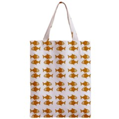 Small Fish Water Orange Zipper Classic Tote Bag