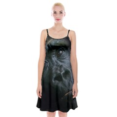 Gorilla Monkey Zoo Animal Spaghetti Strap Velvet Dress