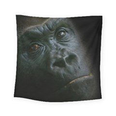 Gorilla Monkey Zoo Animal Square Tapestry (small) by Nexatart