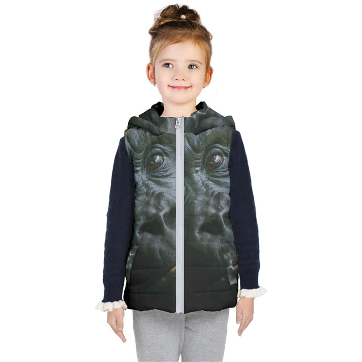 Gorilla Monkey Zoo Animal Kid s Hooded Puffer Vest