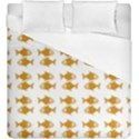 Small Fish Water Orange Duvet Cover (King Size) View1